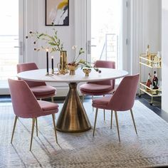 West Elm Finley Low Back Dining Chair Silhouette Pedestal Oval Dining Table – White Marble/Antique Brass Marble Top Dining Table, Dining Chairs, Dining Room Tables, West Elm Dining Table, White Oval Dining Table, Oval Kitchen Table, Round Dining Room Sets, Round Pedestal Dining Table, Round Table And Chairs