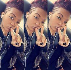 Hair Mohawk designs shaved hair designs hairstyles for black women Mohawk hairstyles shaved head Mohawk Hairstyles, My Hairstyle, Black Girls Hairstyles, Short Hairstyles For Women, Shaved Hairstyles, Hairstyles 2018, Wedding Hairstyles, Curly Hair Styles, Natural Hair Styles