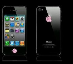 Diamond Crystal Deco Home Button &Logo Sticker x1 iPhone & 2x dust plugs5/3/4/4S