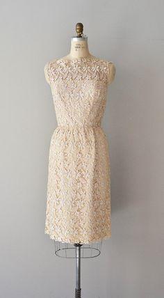 Fleur Blanchi lace dress / vintage 60s cream lace by DearGolden