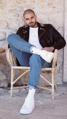 Boys Leather Jacket, Leather Men, Leather Jackets, Black Leather, Riders Jacket, Moto Jacket, Latest Outfits, Mens Clothing Styles, Male Models