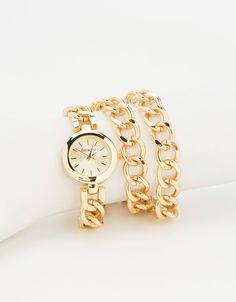 Relógio três correntes bracelete - Bijuteria - Bershka Portugal