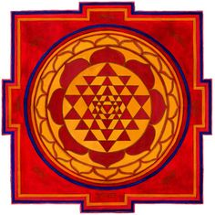 The Sri Yantra is the symbol of Hindu Tantra. This sacred geometrical symbol represents the energy pattern of the universe and the goddess Tripura Sundari. Sri Yantra, Tantra, Body Chakras, Surya Namaskara, Ancient Symbols, Ancient History, Ancient Civilizations, Fractal Art, Sacred Geometry
