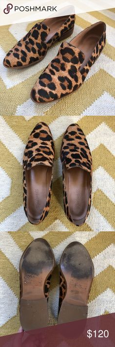 Madewell Leopard Loafers Beautiful leopard print loafers from Madewell. No longer sold. Bought them a half size too small so only worn a handful of times. Excellent condition as you can see. Any questions, let me know! Madewell Shoes Flats & Loafers