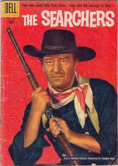John Wayne in The Searchers John Wayne Quotes, John Wayne Movies, Vintage Comic Books, Vintage Comics, Vintage Tv, Iowa, Wayne Family, Western Comics, Western Art