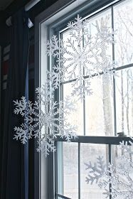 window snow scene from dollar store finds christmas diy christmas decorations dollar tree frozen