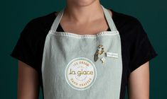 Love the idea of adding pins to the uniform.   https://www.behance.net/gallery/58098455/La-Glace-Premium-French-Ice-Cream