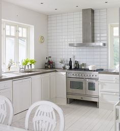 white and light country kitchen