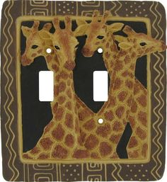 AFRICAN SAFARI GIRAFFE Switch Plates Image, Outlet Covers, Switchplates