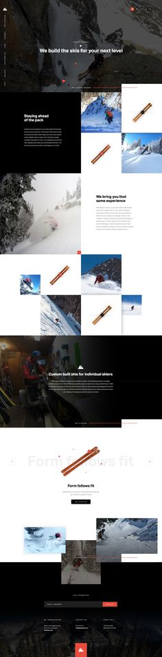 website theme for sport #ski product #sport #winter