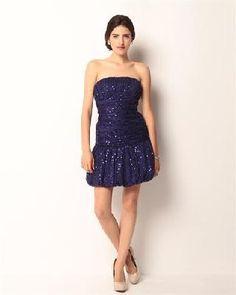 $95.50 Betsey Johnson Sequin Strapless Dress