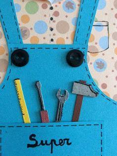 Fathers Day, Leo, Cards, Handmade, Construction, Ideas, Working Man, Birthday Diy, Handmade Cards