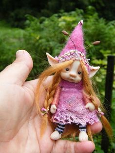 ooak tiny redhaired fairy!  So adorable! available at etsy shop throughthemagicdoor