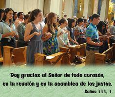 Doy gracias al Señor de todo corazón, en la reunión y en la asamblea de los justos. (Salmo 111, 1)