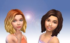Sims 4 CC's - The Best: Mid Wavy Bob for Girls by Kiara24
