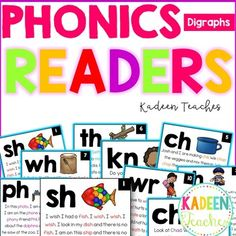 Phonics Readers-Digraphs Distance Learning by Kadeen Teaches Phonics Words, Cvc Words, Phonetic Sounds, Phonics Blends, Sight Word Readers, Teaching Multiplication, Sight Word Worksheets, Short Vowels, Word Games