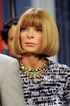 Anna Wintour Diamond Statement Necklace - Anna Wintour paired her sophisticated ensemble with a stunning diamond necklace.