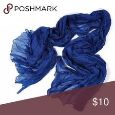 Blue Scarf. Blue scarf. Wrinkled. NWT. None Accessories Scarves & Wraps