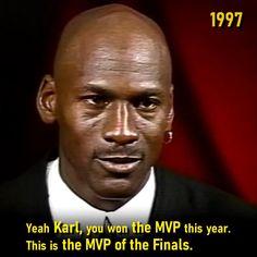 Basketball Jones, Basketball Videos, Basketball Stuff, Sports Basketball, Michael Jordan Gif, Michael Jordan Basketball, Nba Dream Team, Hakeem Olajuwon, Karl Malone