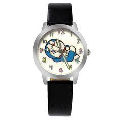 ot03 Brand New Fashion Casual Watch Children Cute Cartoon Doraemon Pattern Sweet Style Quartz Wristwatch Popular Kids Clock