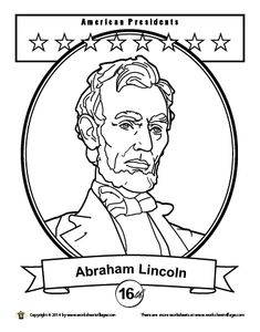 abraham lincoln coloring page printable homeschool pinterest