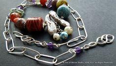 Endless Sea Necklace Gorgeous Gemstones Sparkling by pileofstones