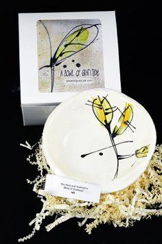 Beautiful hand made bowls. Bright colors by ABowlofGratitude, $30.00