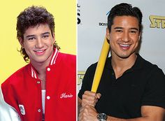Mario Lopez Then:Mario hit our screens as A.C. Slater in 'Saved By The Bell'….but what has he done lately?<.br> Now:Lopez can still strike a cheesy pose, that's for sure! He did star in a reality show with his girlfriend, 'Saved By the Baby' (yes, really….) and finished in second place on the third season of 'Dancing With The Stars' US.