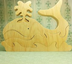 Wooden puzzle whale, fish, wood puzzle constructor, natural toy, Teether, Wooden eco friendly handmade toys
