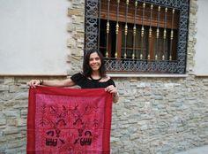 Tris Lo también tiene ya su tapiz de la India por seguin a #elviajemehizoami Estad atentos que en otoño haremos alguna cosa más por el estilo