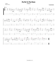 Fly Me To The Moon - Frank Sinatra Ukulele Tab