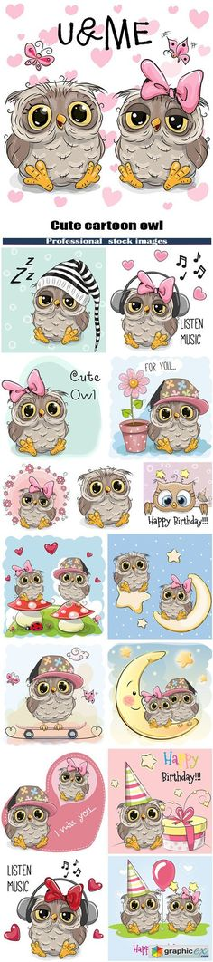Woodland HipMy Owl Obession Vector - cute owls family - stock illusXtra Graphics OFF SALE Valenti& & Cute cartoon owl Owl Vector, Doodles, Owl Always Love You, Owl Crafts, Owl Art, Digital Stamps, Cute Cartoon, Cute Drawings, Painted Rocks