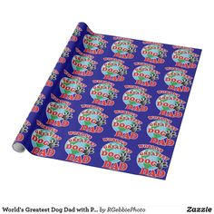 World's Greatest Dog Dad with Paw Wrapping Paper - $23.95 - World's Greatest Dog Dad with Paw Wrapping Paper - by #RGebbiePhoto @ #zazzle - #Dog #Dad #Greatest - Wrap it up from the puppy! Planet Earth, animal paw print, and World's Greatest Dog Dad! You're told you're the best, but Now you are the Greatest! World's Best Dog Dad! Celebrate in style with our Best In Show style Dog Dad Swag and gifts!