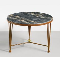 Jean Royère / Painted Metal & Marble Low Table / Maison Gerard / 1950
