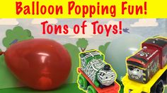 BALLOON POP WITH TONS OF TOYS - Thomas and Friends Minis, Frozen and oth...