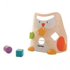 Plan Toys - Trieur de forme Hibou en bois
