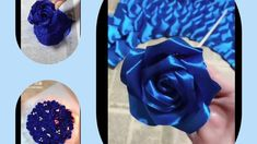 Like and subcribe😍 Ribbon Bouquet, Satin Ribbon Flowers, Diy Bouquet, Satin Roses, Paper Flowers Diy, Rose Bouquet, Fabric Flowers, Grosgrain Ribbon, Paper Roses