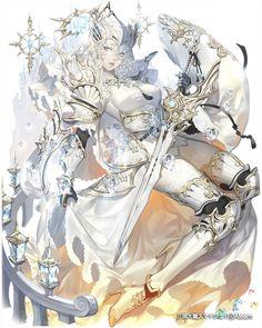 三国大戦スマッシュ!백색의 기사신부? 컨셉이었습니다. 재밌었어요!pic.twitter.com/MOkbWZkyyw Fantasy Character Design, Female Character Design, Character Design References, Character Design Inspiration, Character Concept, Character Art, Fantasy Armor, Anime Fantasy, Fantasy Girl