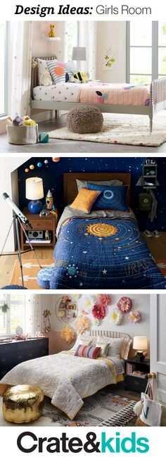 Teen Bedroom Ideas - Searching for girls bedroom design ideas? Our room gallery have tons of inspiration to help you create a kids room that's every bit as unique as your little one.