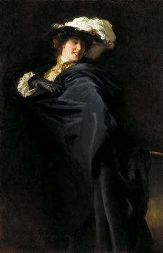 'Portrait of Ena Wertheimer: A Vele Gonfie', 1905 by John Singer Sargent (American, Giovanni Boldini, Classic Paintings, Beautiful Paintings, Figure Painting, Painting & Drawing, Beaux Arts Paris, Sargent Art, Living In London, Chef D Oeuvre