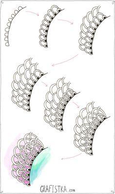 Дудлинг урок нарисовать цветок по шагам, 26