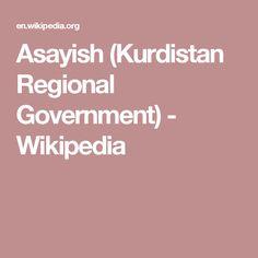 Asayish (Kurdistan Regional Government) - Wikipedia