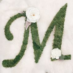 Traditional Custom Letter - Yellow and Coral Florals Floral Letters, Fairytale, Greenery, Christmas Wreaths, Nursery, Lettering, Traditional, Holiday Decor, Ideas