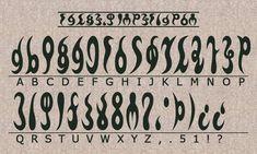 Legend Of Zelda - Ocarina Of Time - Gerudo Alphabet Alphabet Code, Alphabet Symbols, Ancient Alphabets, Ancient Symbols, Occult Symbols, Alfabeto Viking, Fictional Languages, Different Alphabets, Secret Code