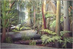 World's First Rainforest, I think this is a view from the Carboniferous when early insects reigned supreme