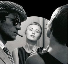 """Jean-Paul Belmondo and Jean Seberg in Breathless (French: À bout de souffle; """"out of breath"""") is a 1960 French film written and directed by Jean-Luc Godard"""