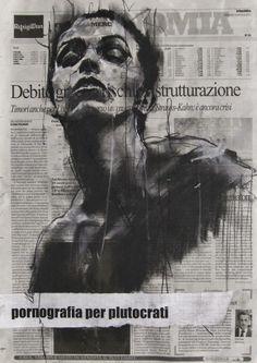 Guy Denning #painting #pornografia. #guydenning http://www.widewalls.ch/artist/guy-denning/