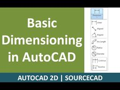 Basic Dimensioning in AutoCAD/LT