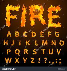 fire font r flames - Google Search