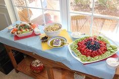 Curious George birthday snacks